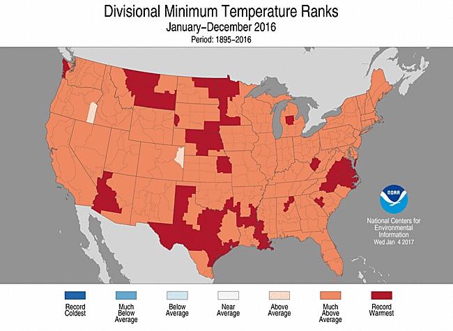 NOAA division minimums