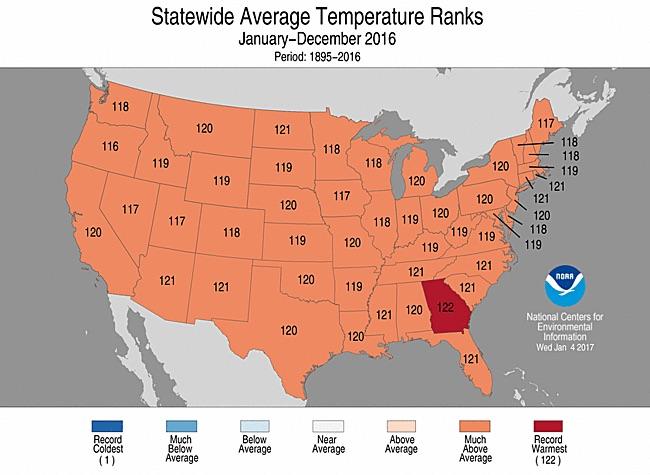 NOAA state ranks