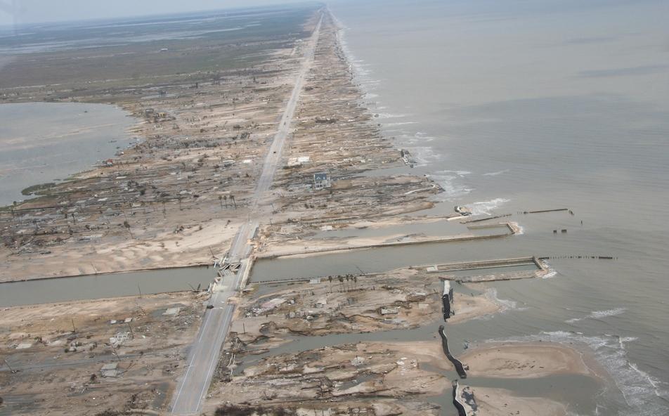 beach devastation