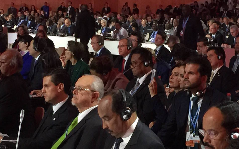 Delegates of nearly 200 nations convened at the Paris climate summit.