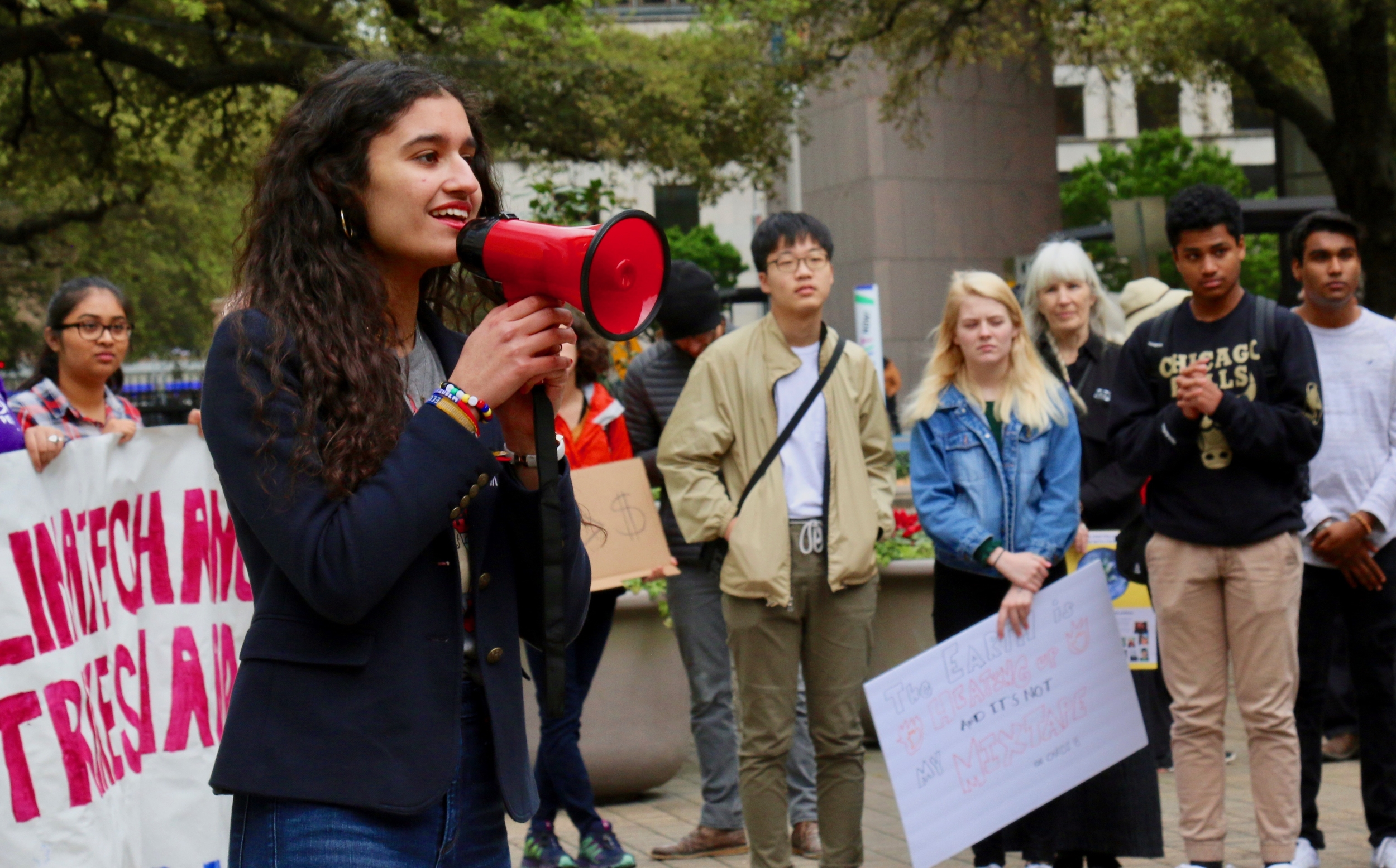 Students rally worldwide for climate action: Houston's event in