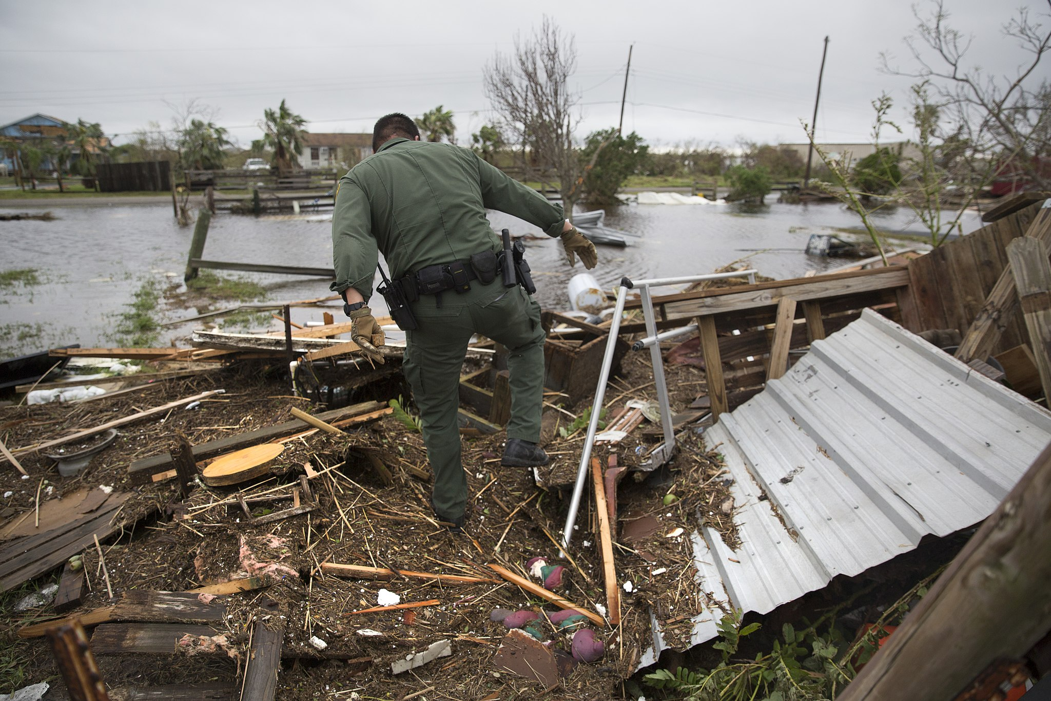 Search for survivors after Hurricane Harvey