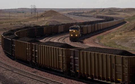 Coal trains by Kimon Berlin