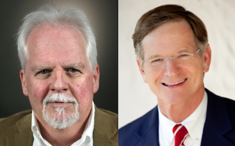Democrat Tom Wakely (left) is running against Republican incumbent Lamar Smith in the congressional race in District 21 in Central Texas.