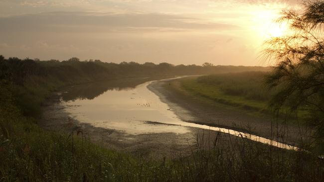 Rio Grande near Brownsville in Texas and Matamoros in Mexico